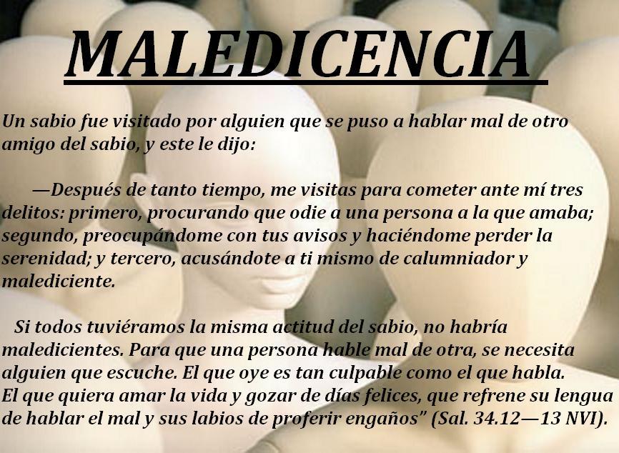 MALEDICENCIA
