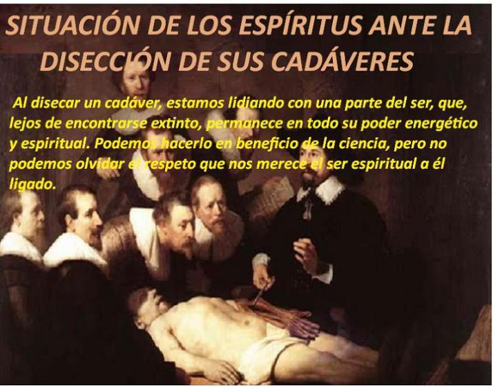 SITUACIÓN DE LOS ESPÍRITUS ANTE LA DISECCIÓN DE SUS CADÁVERES (J HERCULANO PIRES)