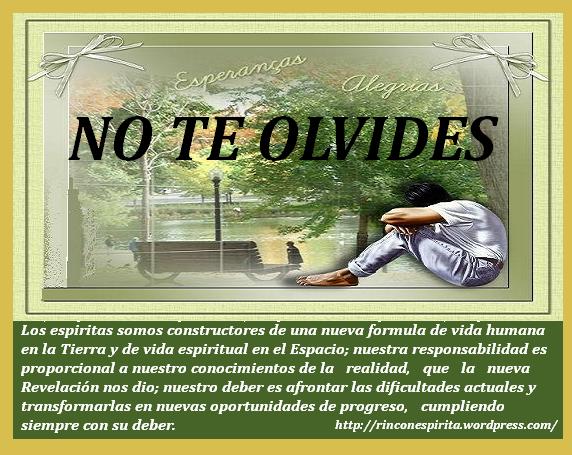 NO TE OLVIDES