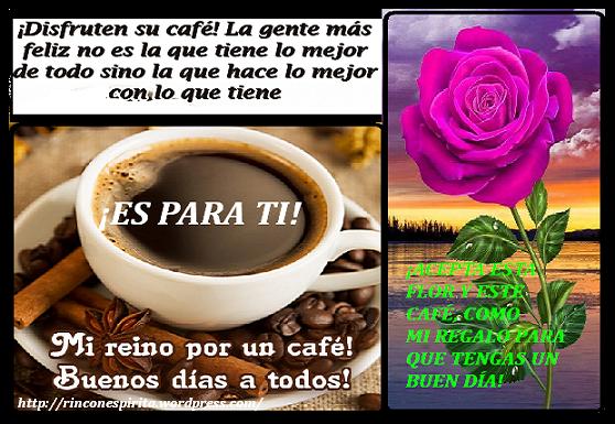 disfruten su cafe