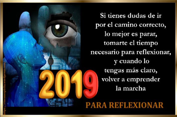 PARA REFLEXIONAR 2019